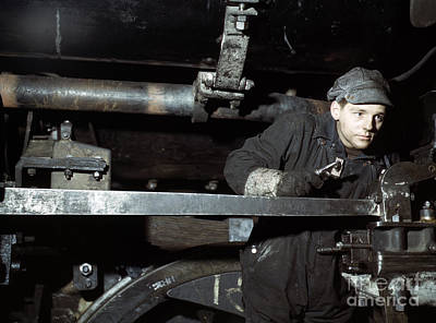 Photograph - Railroad Worker by Delano