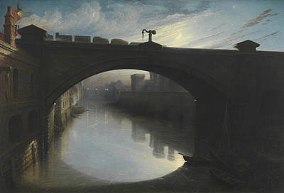 Painting - Railway Bridge Over The River Cart, Paisley by Waller Hugh Paton