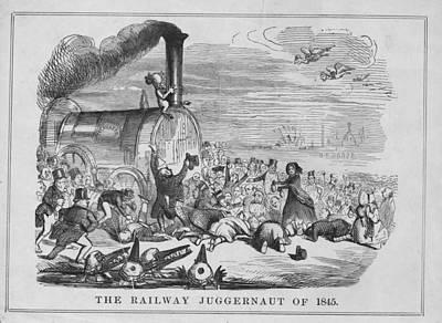 Railway Juggernaut Art Print by Hulton Archive