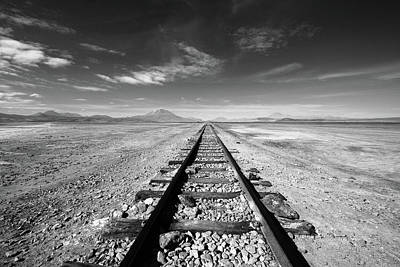 Photograph - Beyond The Desert Rail by Aidan Moran
