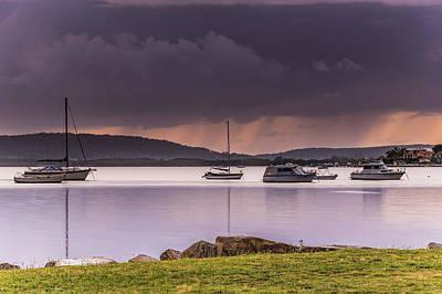 Photograph - Rain Across The Bay by Merrillie Redden