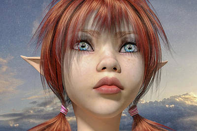 Fantasy Digital Art - Rain by Betsy Knapp