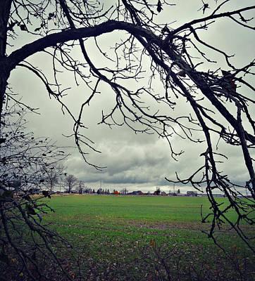 Photograph - Rain In The Distance by Cyryn Fyrcyd