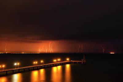 Photograph - Rain Of Lightnings by Evgeni Dinev