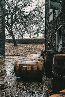 Photograph - Rain On Bourbon Barrel  by Joseph Caban