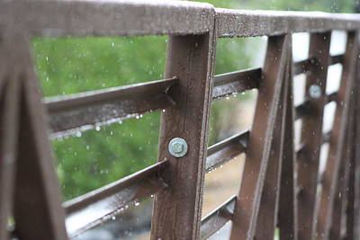Photograph - Rain On Bridge In Utah by Colleen Cornelius