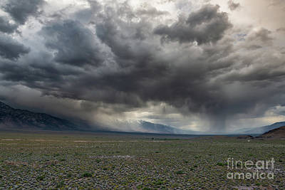 Photograph - Rain Storm At Alabama Hills  by Michael Ver Sprill