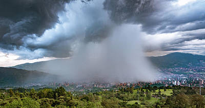 Photograph - Rain Storm Over Medellin by Francisco Gomez