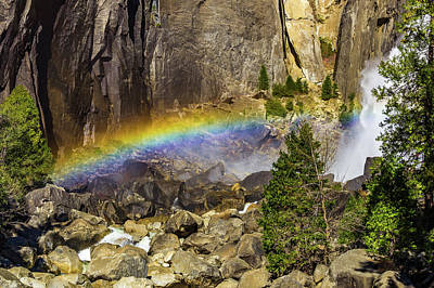 Wall Art - Photograph - Rainbow At Lower Falls by Roslyn Wilkins