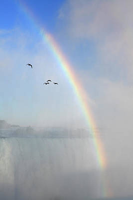 Photograph - Rainbow At Niagara Waterfalls by Massimo Pizzotti