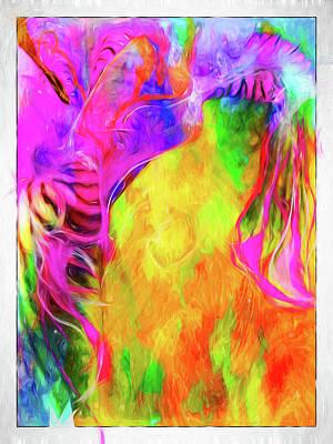 Cindy Digital Art - Rainbow Blossom by Cindy Greenstein