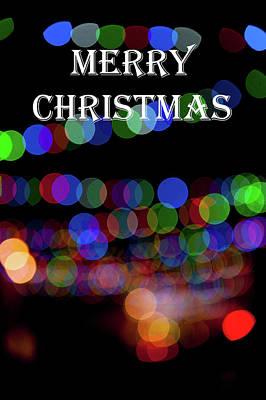 Photograph - Rainbow Bokeh - Merry Christmas II by Helen Northcott