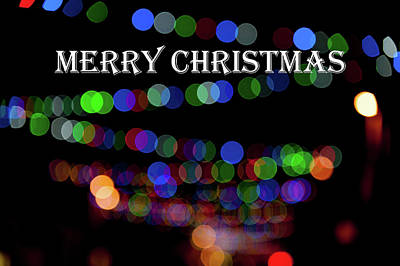 Photograph -  Rainbow Bokeh - Merry Christmas IIi by Helen Northcott