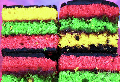Photograph - Rainbow Cake Colors by John Rizzuto
