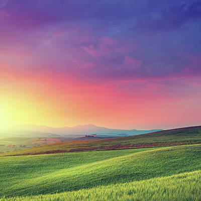Photograph - Rainbow Dawn In Tuscany by Mammuth