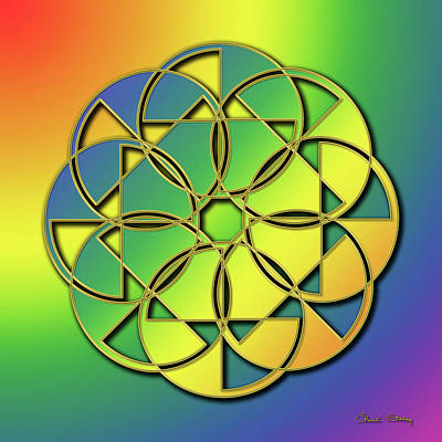 Digital Art - Rainbow Design 10 by Chuck Staley