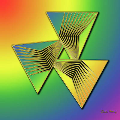 Digital Art - Rainbow Design 11 by Chuck Staley