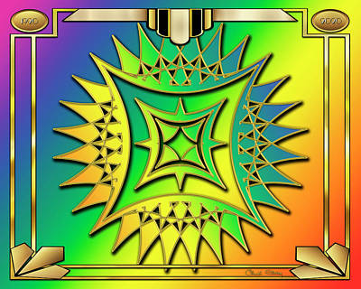 Digital Art - Rainbow Design 12 by Chuck Staley