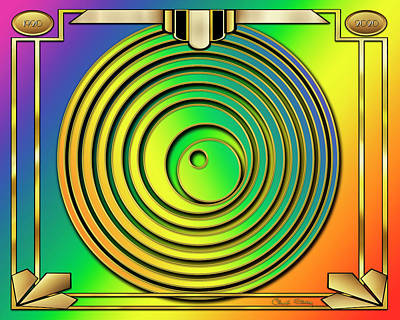 Digital Art - Rainbow Design 13 by Chuck Staley