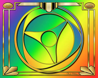Digital Art - Rainbow Design 15 by Chuck Staley