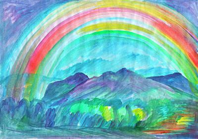 Painting - Rainbow by Dobrotsvet Art