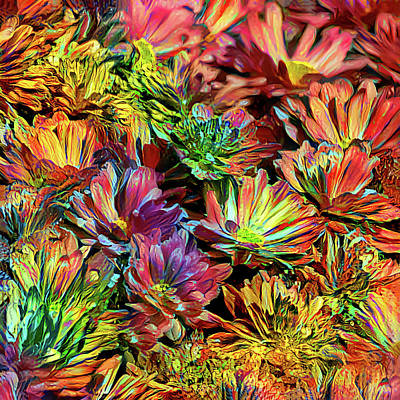 Photograph - Rainbow Floral by HH Photography of Florida