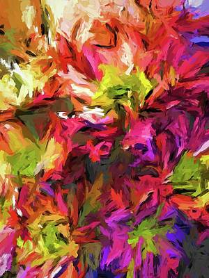 Painting - Rainbow Flower Rhapsody In Pink And Purple by Jackie VanO