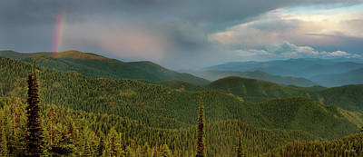 Photograph - Rainbow From The Lolo Trail by Leland D Howard