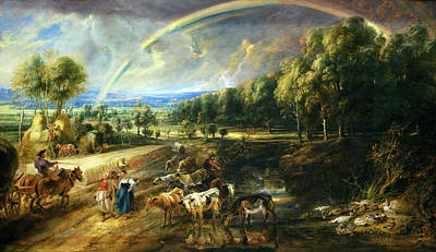 Painting - Rainbow Landscape By Peter Paul Rubens by Superstock