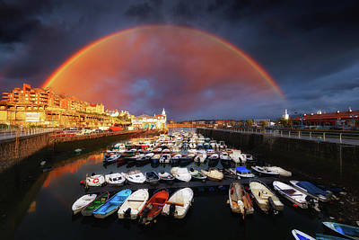 Photograph - Rainbow Over Arriluze In Getxo by Mikel Martinez de Osaba