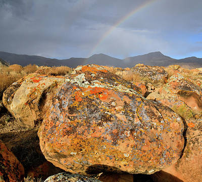 Photograph - Rainbow Over Book Cliff Boulders by Ray Mathis