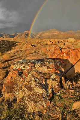 Photograph - Rainbow Over Book Cliffs In Colorado by Ray Mathis