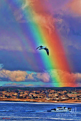 Photograph - Rainbow Over Monterey Bay by Blake Richards