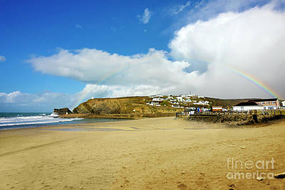 Photograph - Rainbow Over Portreath by Terri Waters