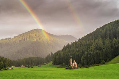 Photograph - Rainbow Over St  Johann by James Billings