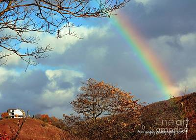 Photograph - Rainbow Over The Ridge  by Tami Quigley