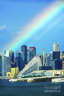 Michael Jackson -  Rainbow over Via57 West NYC by Regina Geoghan