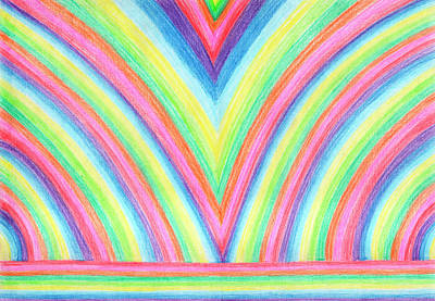 Drawing - Rainbow Pattern by Dobrotsvet Art