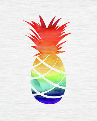 Kristian Gallagher Royalty-Free and Rights-Managed Images - Rainbow Pineapple by Kristian Gallagher