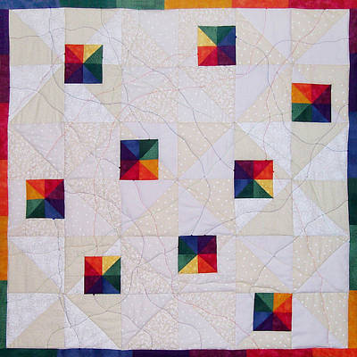 Rainbow Pinwheel Art Print