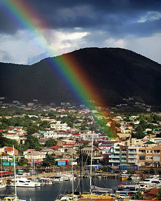 Photograph - Rainbow Pot Of Gold At Basseterre, St. Kitts by Bill Swartwout Fine Art Photography