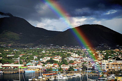 Photograph - Rainbow Pot Of Gold In Basseterre, St. Kitts by Bill Swartwout Fine Art Photography