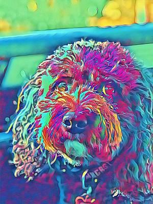 Digital Art - Rainbow Pup by Cindy Greenstein