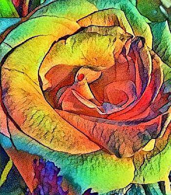 Photograph - Rainbow Rose  by Kimberly Woyak