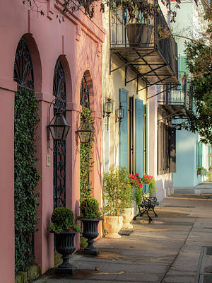 Photograph - Rainbow Row Morning Light 2 by Donnie Whitaker