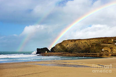 Photograph - Rainbows Over Portreath by Terri Waters