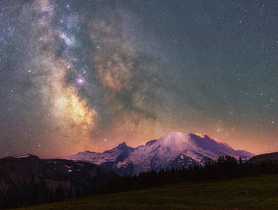 Photograph - Rainier's Majesty by Darren White