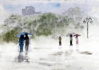Painting - Rains by Asha Sudhaker Shenoy