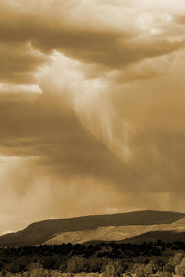Photograph - Rain's Coming In Sepia by Colleen Cornelius