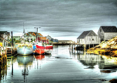 Photograph - Rainy Day At Peggy's Cove by Max Huber